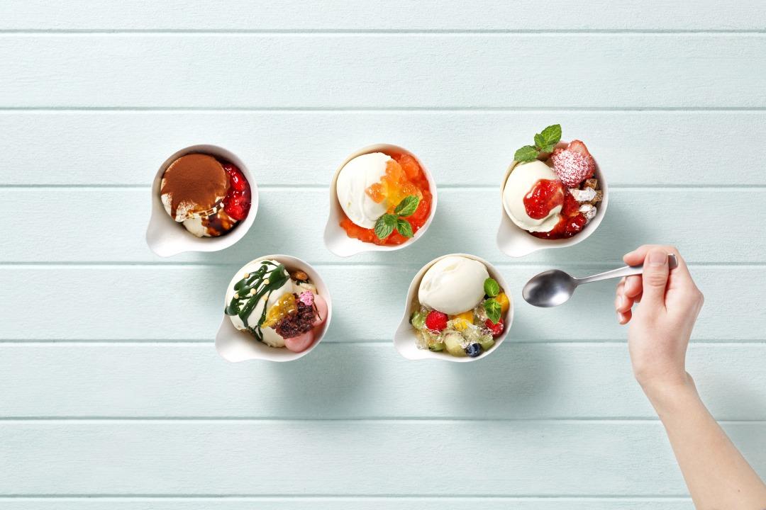 ナポリ、アイスクリーム、イタリア